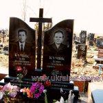 двойной памятник из гранита Одесса