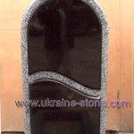 Памятник из черного и серого камня